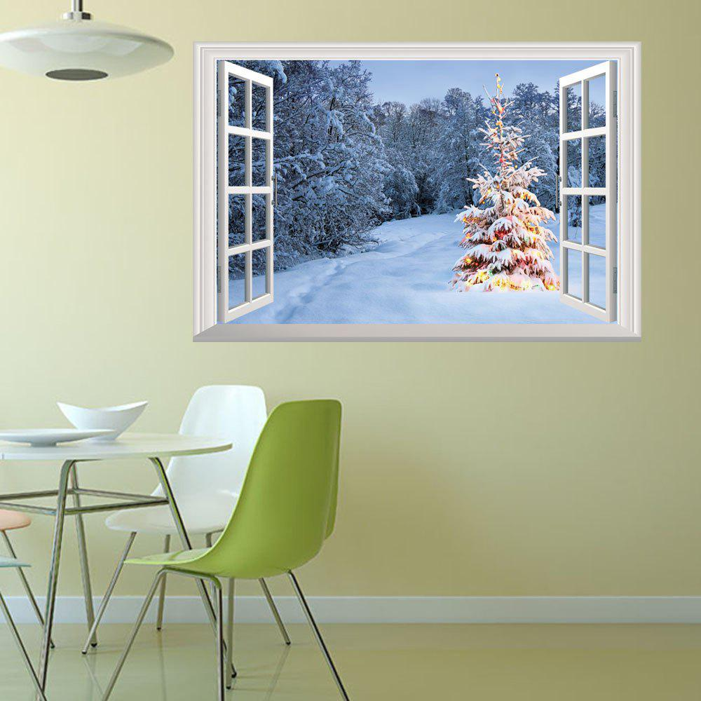 Creative Christmas Snow Mountain 3D Home Decoration Wall StickersHOME<br><br>Color: COLORMIX;