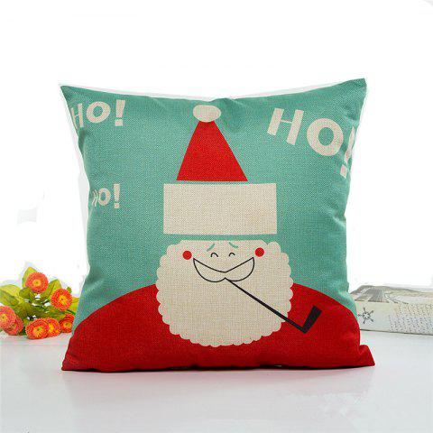 Lovely Santa Claus Flax Pillow Case Home Decoration Covers