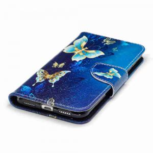 Golden Butterfly Painted Pu Phone Case for Huawei P8 Lite 2017 -