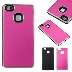 Two-In-One Tpu + Aluminum Alloy Plating Scrub Phone Case for Huawei P9 Lite -