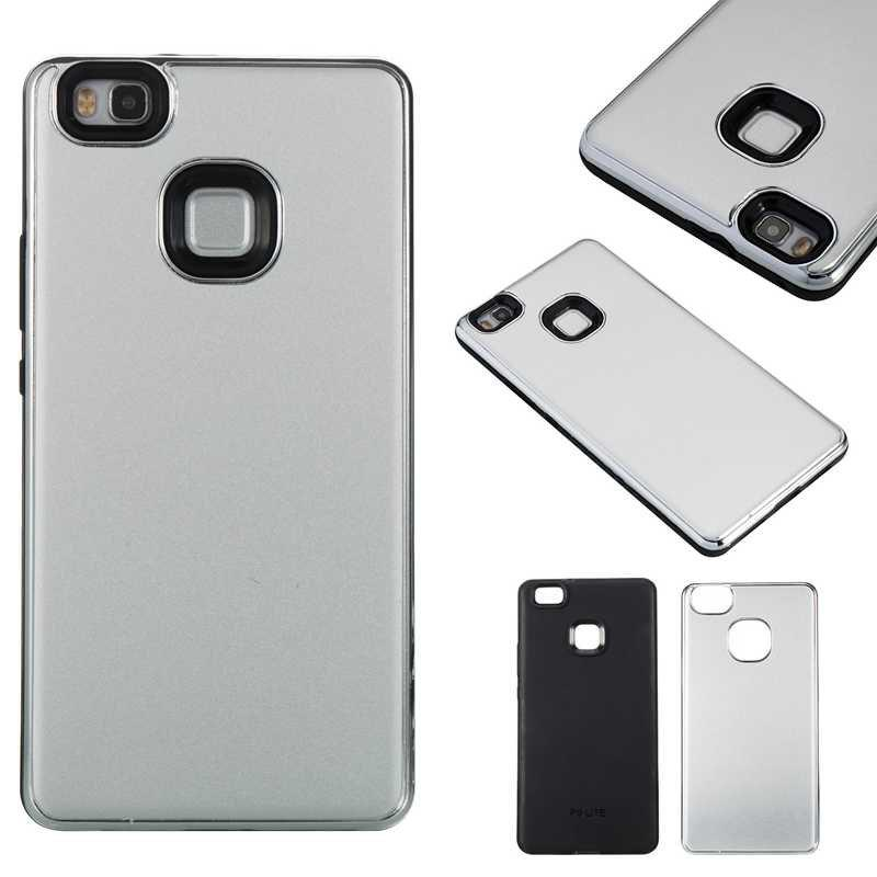 Online Two-In-One Tpu + Aluminum Alloy Plating Scrub Phone Case for Huawei P9 Lite