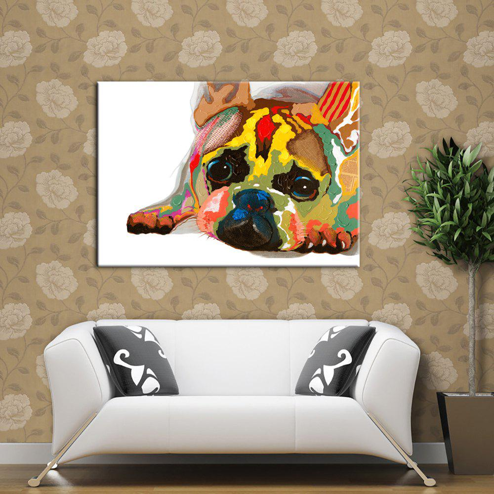 Yhhp Hand-Painted High-Resolution Pictures Print Puppies Simulation Oil Painting Wall Art On Canvas Unframed