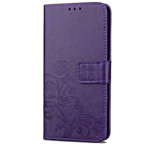 Yc Lucky Clover Holster Leaf Card Lanyard Pu Leather Case for Samsung J7 Prime -