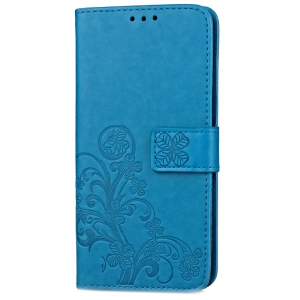 Yc Lucky Clover Holster Leaf Card Lanyard Pu Leather Case for Samsung J530 -