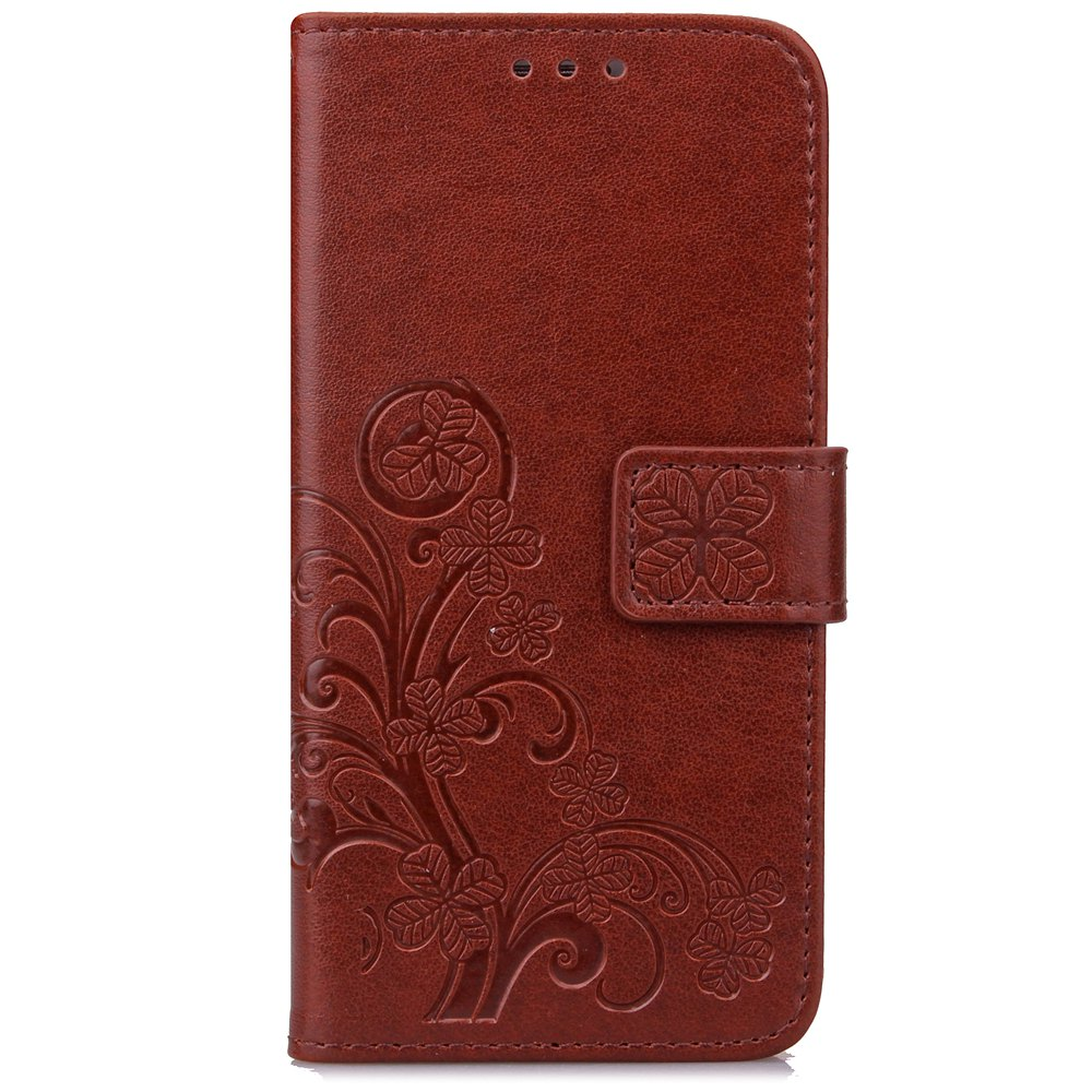Cheap Yc Lucky Clover Holster Leaf Card Lanyard Pu Leather Case for Samsung J530