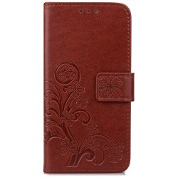 Yc Lucky Clover Holster Leaf Card Lanyard Pu Leather Case for Samsung S5 Mini -