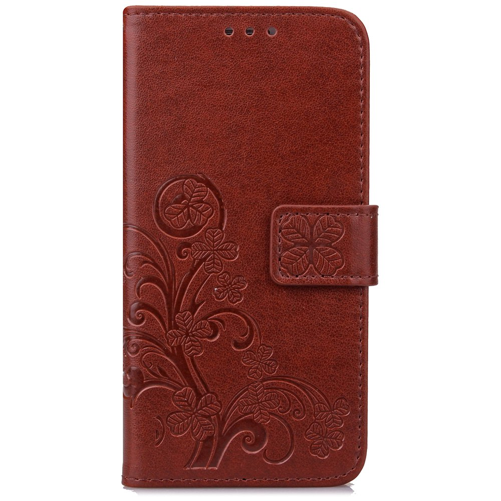 Sale Yc Lucky Clover Holster Leaf Card Lanyard Pu Leather Case for Samsung S5 Mini
