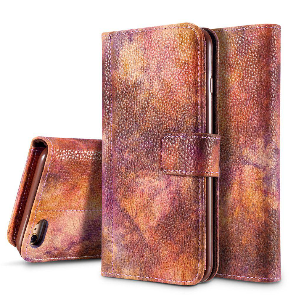 Online Wkae Forest Series Colorful Paiting Litchi Texture Premium PU Leather Horizontal Flip Stand Wallet Case Cover  with Card Slots for iPhone 6 6s