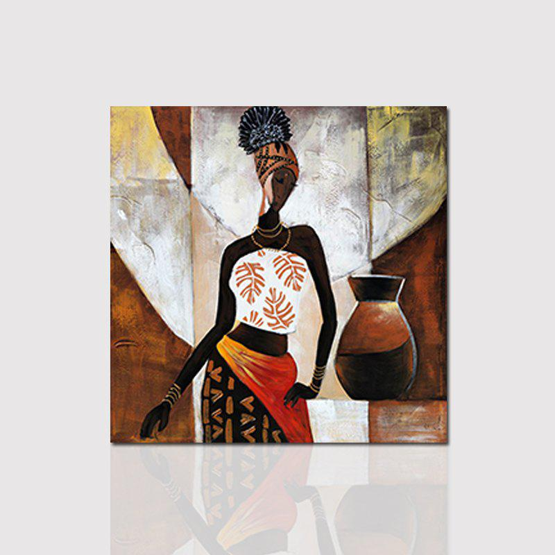 Hx-Art Unframed Canvas Western Minimalist Living Room Hallway Decoration PaintingHOME<br><br>Size: 80CMX80CM; Color: COLORMIX; Brand: Qiaojiahuayuan; Material: Canvas; Shape: Vertical Panoramic; Craft: Print; Form: One Panel; Painting: Without Inner Frame; Subjects: Still Life; Style: Ethnic,Figure Statue,Women; Suitable Space: Bedroom,Living Room;