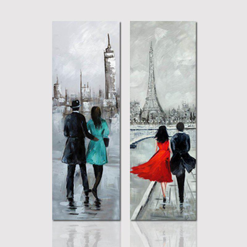 2018 Hx-art No Frame Canvas Couple Two Sets Of Painting Living Room ...