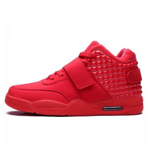 Breathable Solid Color Rivets Sneakers -
