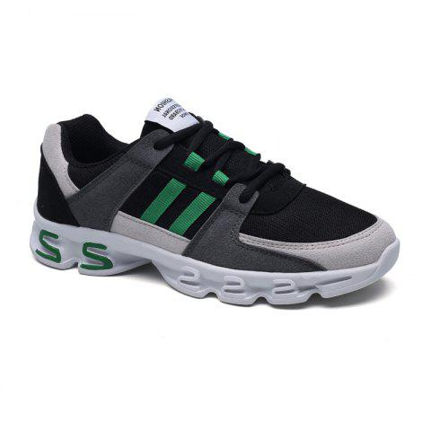 Hot Color Block Mens Sports Shoes - 40 GREY AND GREEN Mobile