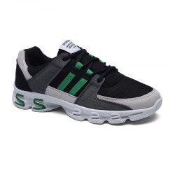 Color Block Mens Sports Shoes - GREY AND GREEN 44
