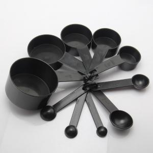 Black Plastic Measuring Cups 10PCS / LOT Measuring Spoon Kitchen Tools for Baking Coffee Tea -