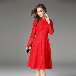Tang Tangkou Deduction Slim Lace Dress -