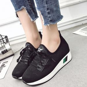 Breathable Solid Color Platform Shoes -
