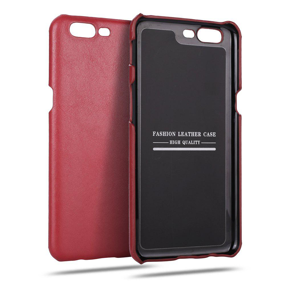 Retro Style Cow Leather Hard Back Case for OnePlus 5HOME<br><br>Color: RED;