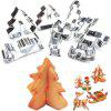 Hoard 8PCS 3D Christmas Scenario Cookie Cutter Mold Set Stainless Steel Fondant Cake Mould -