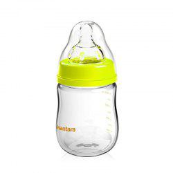 Baby Glass Milk Bottle Wide caliber Baby Milk Bottle Anti Flailing Air Water Bottle -