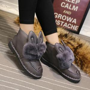 Rabbit Ears Type Fluffy Ankle Boots -