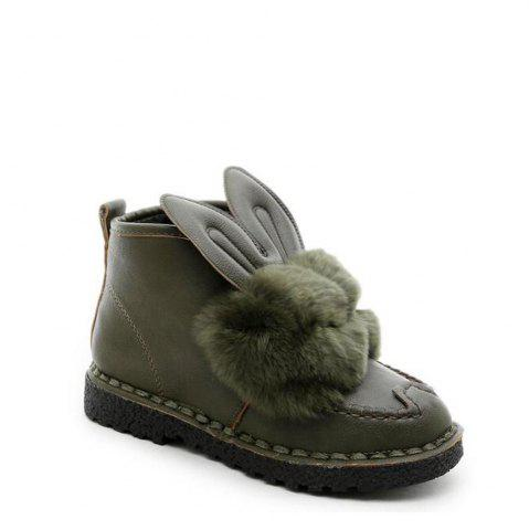 New Rabbit Ears Type Fluffy Ankle Boots