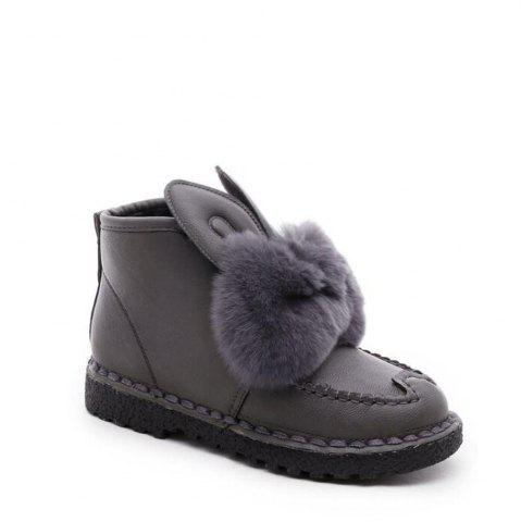 Store Rabbit Ears Type Fluffy Ankle Boots