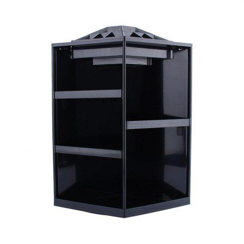 Sale 360 Degree Rotating Cosmetic Makeup Organizer Box Storage Rack Case Stand Holder Jewelry Gifts Toy BLACK COLOR