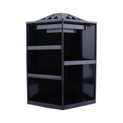 360 Degree Rotating Cosmetic Makeup Organizer Box Storage Rack Case Stand Holder Jewelry Gifts Toy - BLACK COLOR
