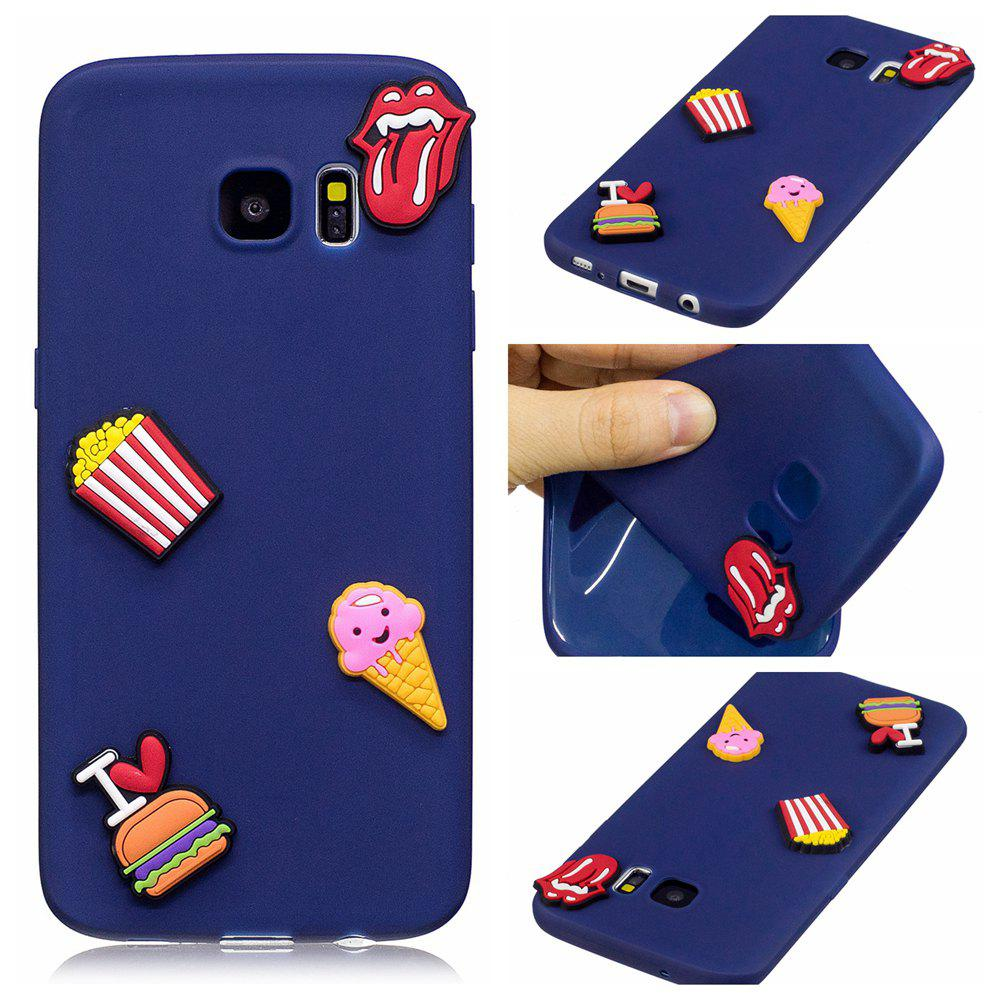 3D Cute Candy Pattern Silicone Soft Back Case for Samsung Galaxy S7 EdgeHOME<br><br>Color: CADETBLUE;