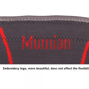Mumian A29 Silica Gel Gray Red Elbow Sports Elbow Sleeve Brace - 1PCS -
