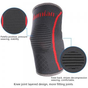 Mumian A29 Silica Gel Grey Red Elbow Sport coude à manches coudes - 1PCS -