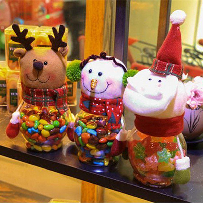 Outfit Christmas Snowman Plastic Candy Containers Decorative Candy Bottles Holiday Decorations
