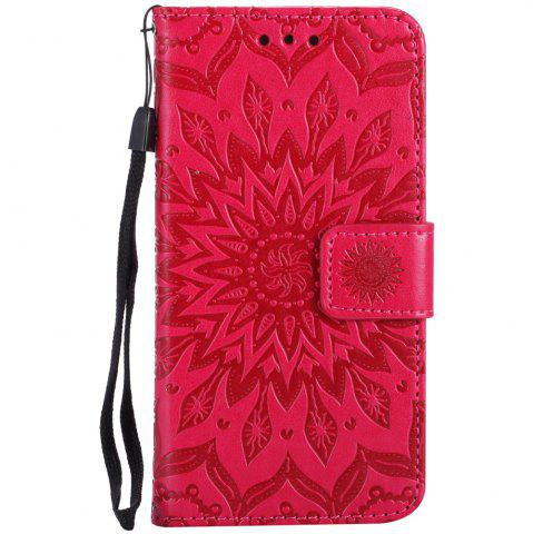 Sun Flower Printing Design Pu Leather Flip Wallet Lanyard Защитный чехол для Iphone 7