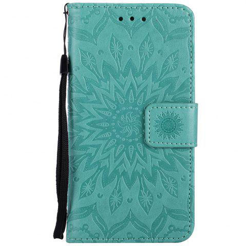Affordable Sun Flower Printing Design Pu Leather Flip Wallet Lanyard Protective Case for Iphone 7