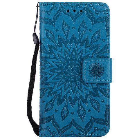 Discount Sun Flower Printing Design Pu Leather Flip Wallet Lanyard Protective Case for Iphone 7