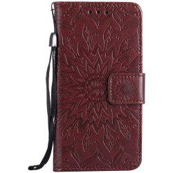 Sun Flower Printing Design Pu Leather Flip Wallet Lanyard Защитный чехол для Iphone 7 -