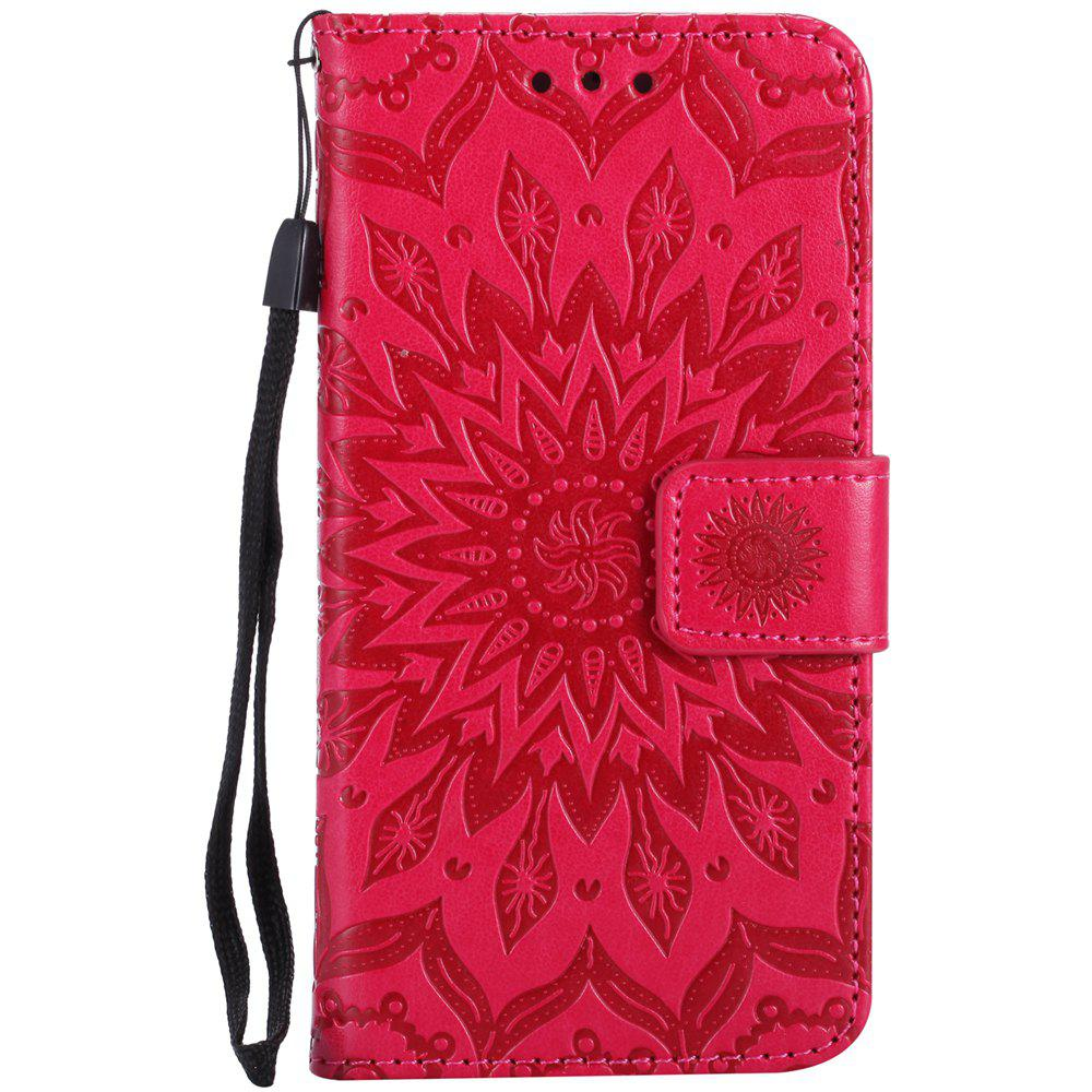 Shop Sun Flower Printing Design Pu Leather Flip Wallet Lanyard Protective Case for Iphone 7