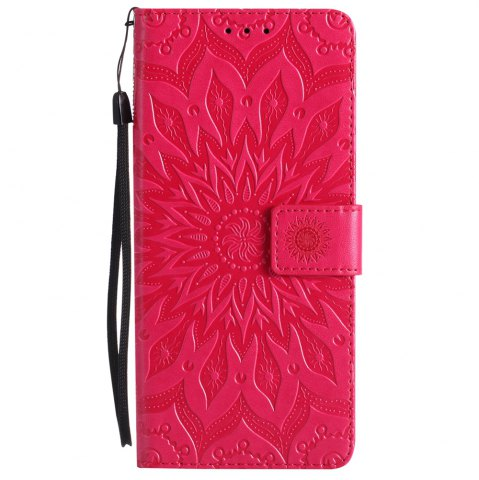 Latest Sun Flower Printing Design Pu Leather Flip Wallet Lanyard Protective Case for Samsung Galaxy Note 8
