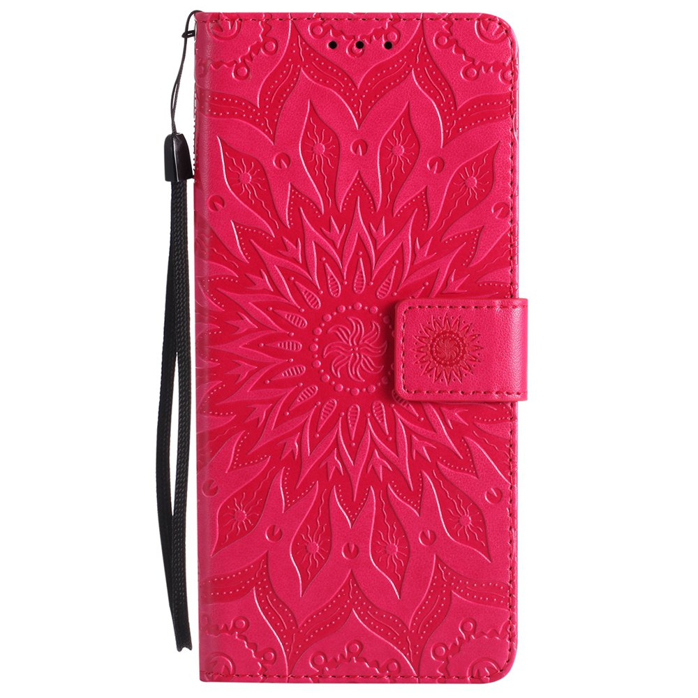 Sun Flower Printing Design Pu Leather Flip Wallet Housse de protection pour Samsung Galaxy Note 8