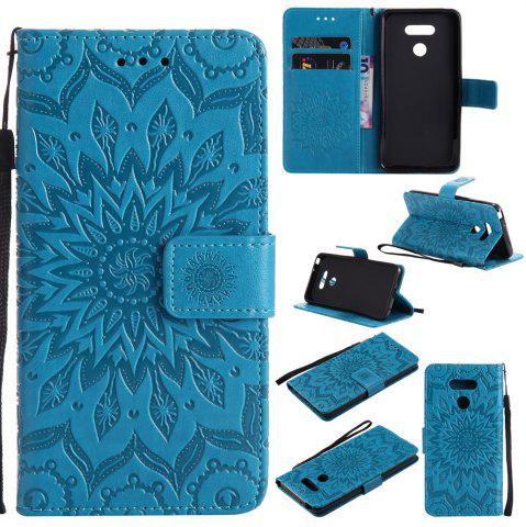 Affordable Yanxn Sun Flower Printing Design Pu Leather Flip Wallet Lanyard Protective Case for Lg G6