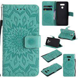 Yanxn Sun Flower Printing Design Pu Leather Flip Wallet Lanyard Protective Case for Lg G6 -