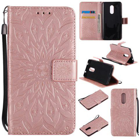 Hot Yanxn Sun Flower Printing Design Pu Leather Flip Wallet Lanyard Protective Case for Xiaomi Redmi Note 4X