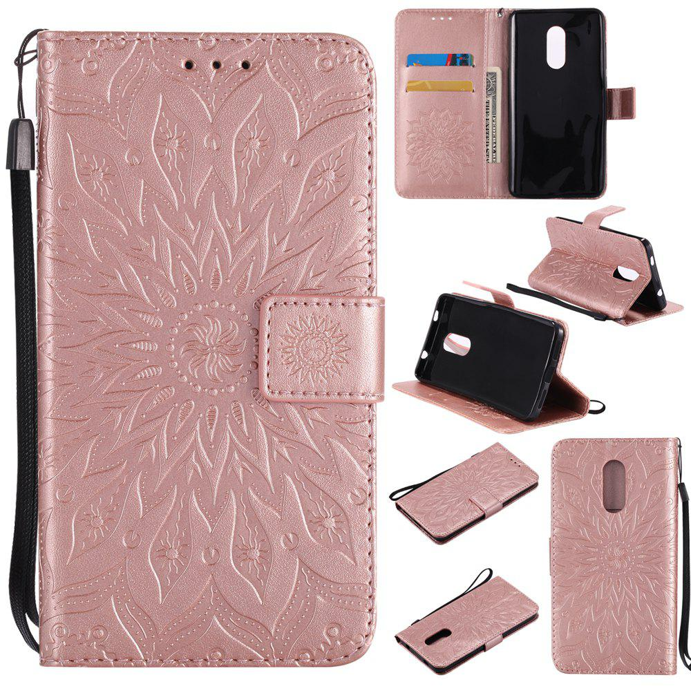 Hot Yanxn Sun Flower Printing Design Pu Leather Flip Wallet Lanyard Protective Case for Xiaomi Redmi Note 4 / 4X