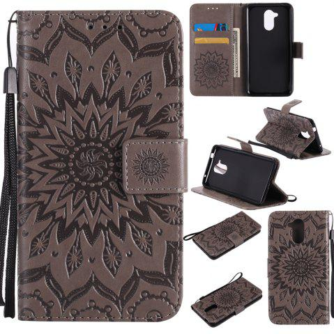 Yanxn Sun Flower Printing Design Pu Leather Flip Wallet Housse de protection pour HUAWEI Honor 6C