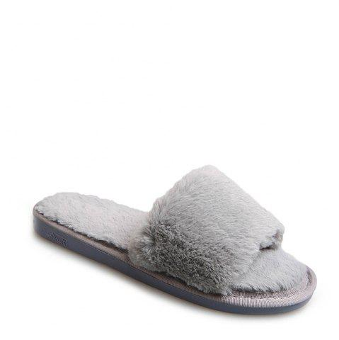 Affordable 2017 Wool Flat Cotton Slippers OYSTER 37