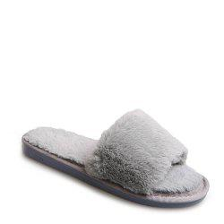 2017 Wool Flat Cotton Slippers - OYSTER 37