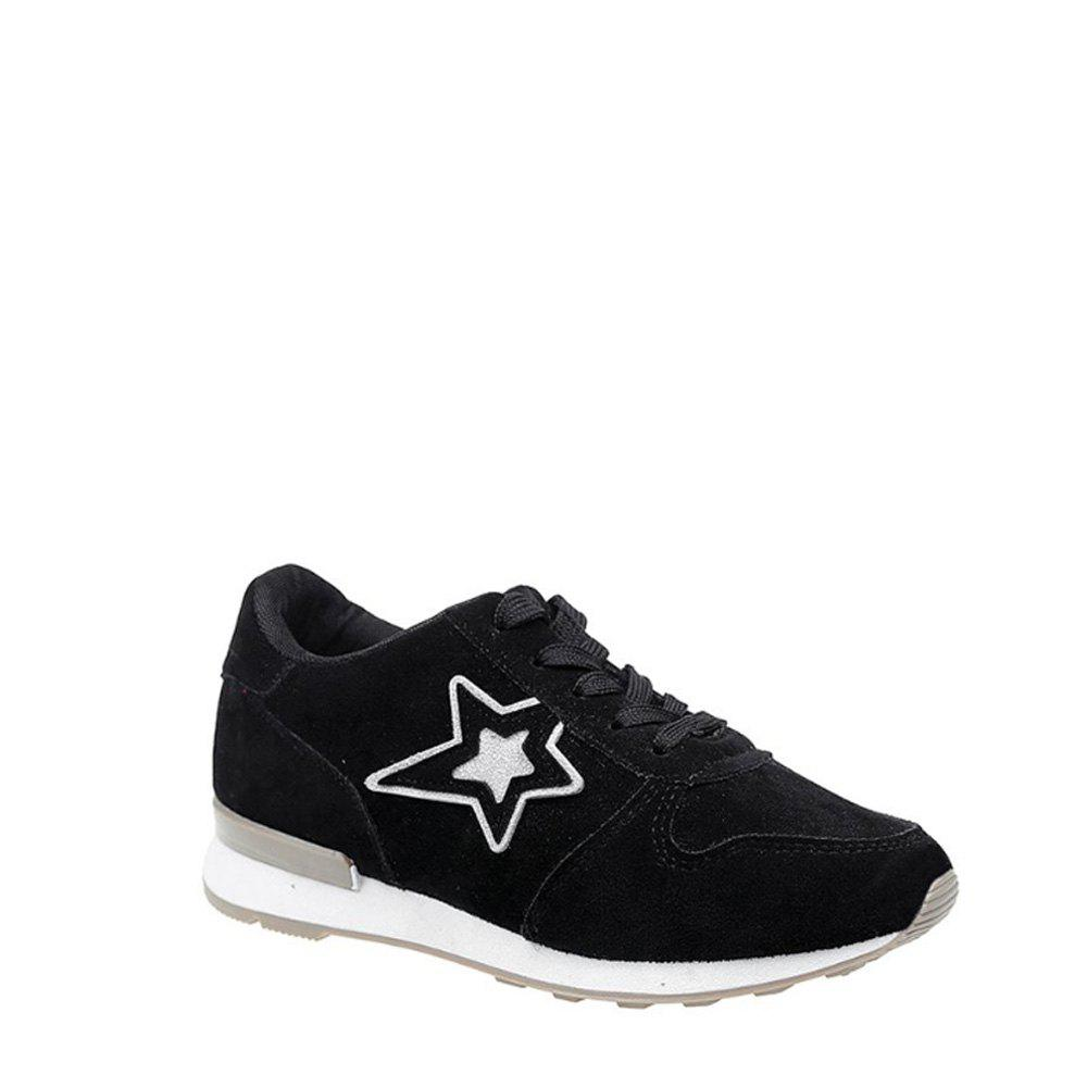 Trendy Star Pattern Solid Color Sport Shoes