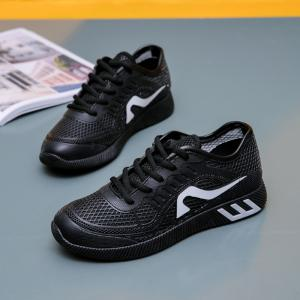 Hollow Out Color Block Casual Shoes - BLACK 38