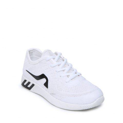 Online Hollow Out Color Block Casual Shoes - 36 WHITE Mobile