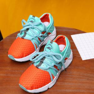 Breathable Solid Color Lace-Up Sport Shoes - JACINTH 39